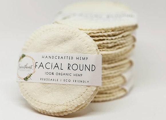 100% Organic Hemp Facial Rounds