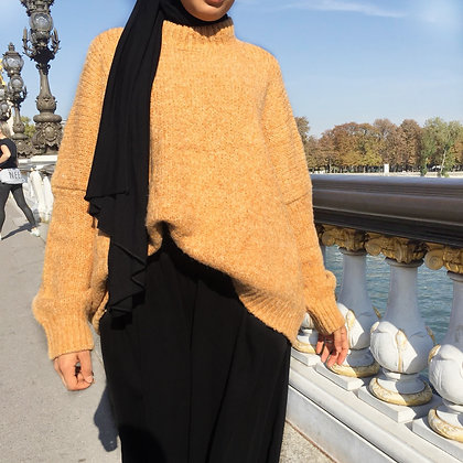 PULL OVERSIZE MOUTARDE