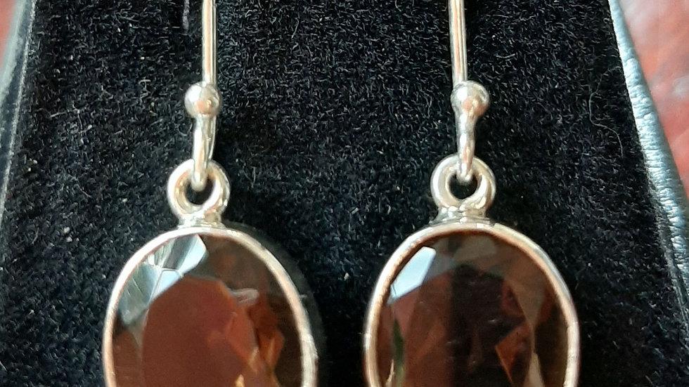Semi precious gemstone drop earrings in sterling silver