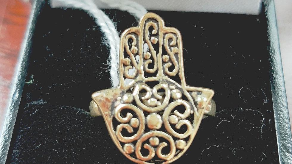 Hand of Fatima Brass ring size J