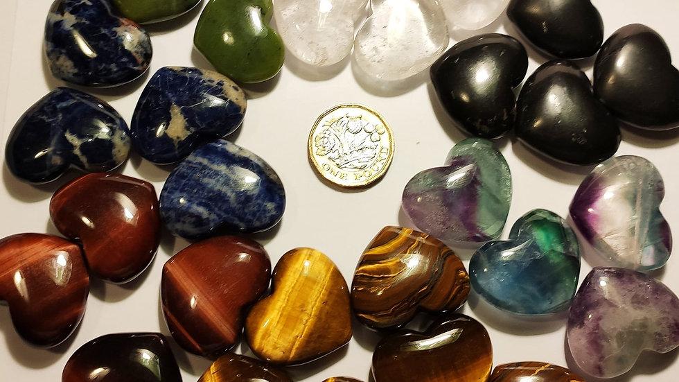 Premium semi precious crystal hearts