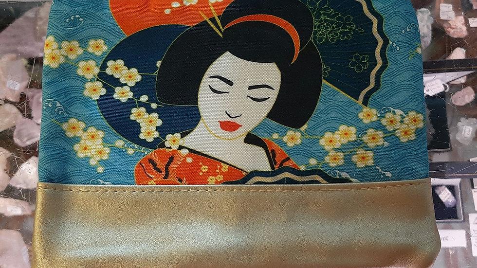 Geisha print bag