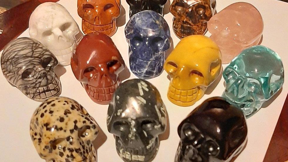Crystal skulls 4.5cm x 4cm x 4cm