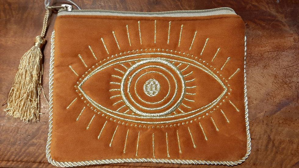 Velvet eye design bag