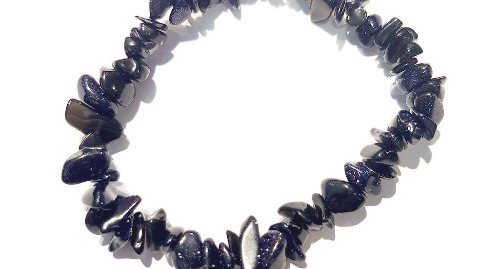 Blue Gold Stone Chip Bracelet