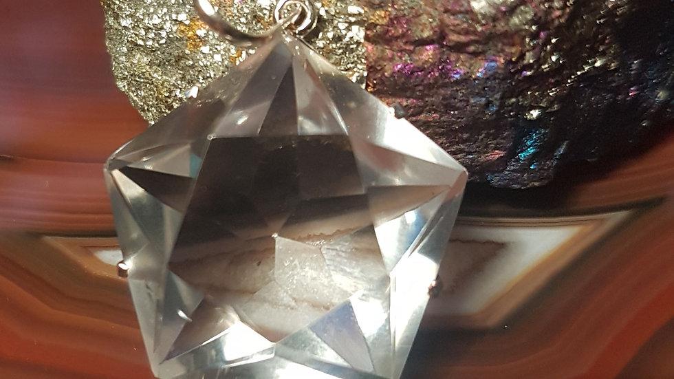 Quartz Crystal Pentagon Pendant