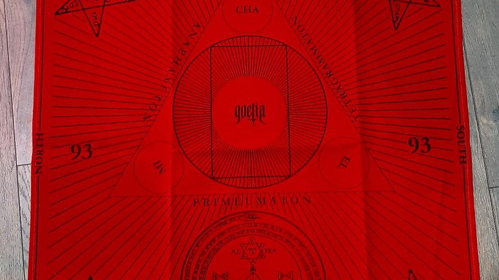 Alter/ Tarot cloth red velor