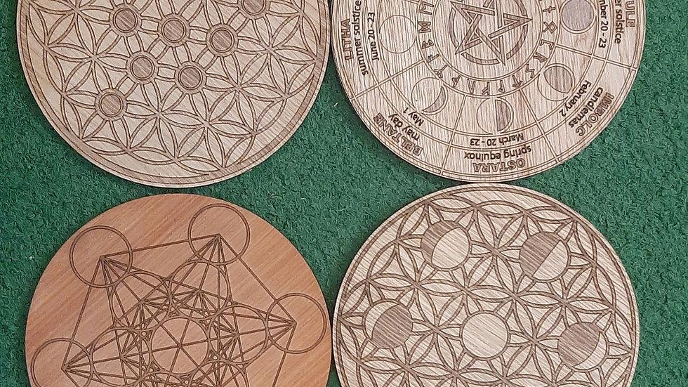 Crystal grid matts 19.5cm diameter