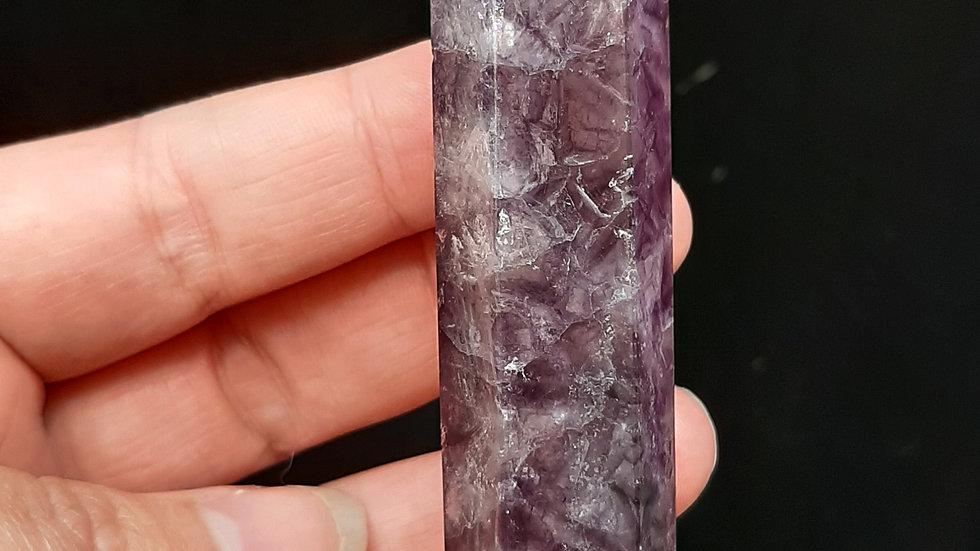 Purple fluorite tower 7cm