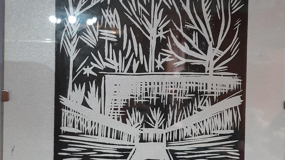 Lino print by Josh Clegg