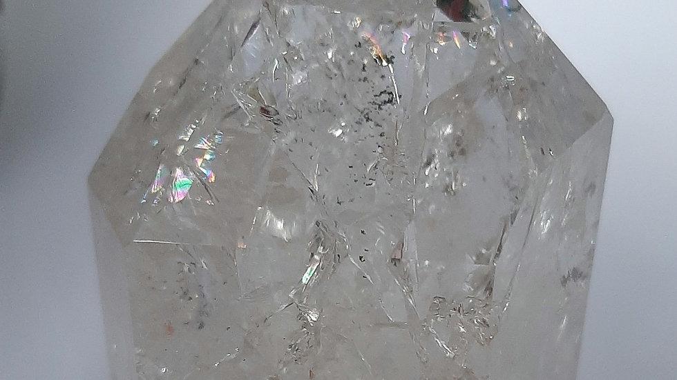 Fire and Ice Quartz (crackle quartz) 7cm x 4cm