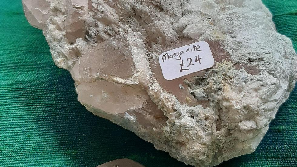 Morganite Crystal's in matrix