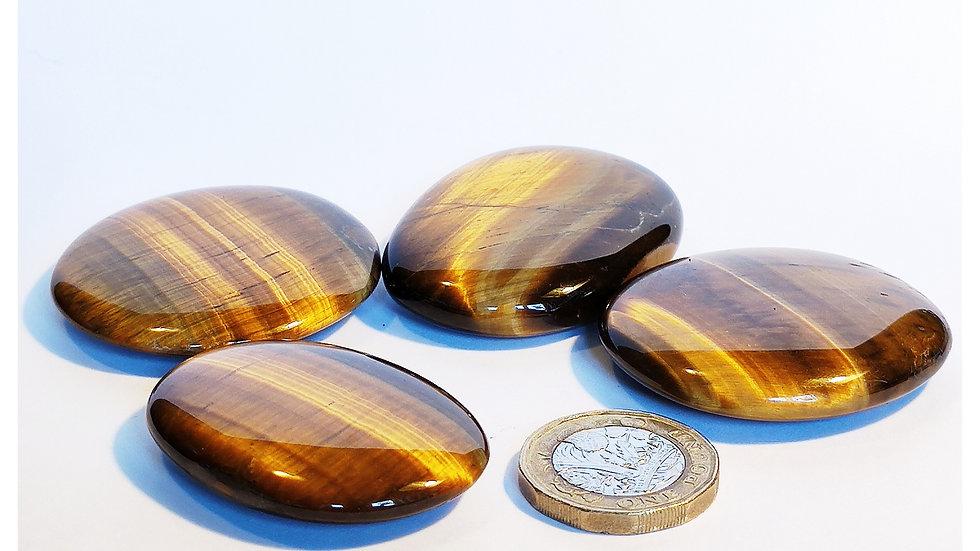 Tiger Eye Palm Stone