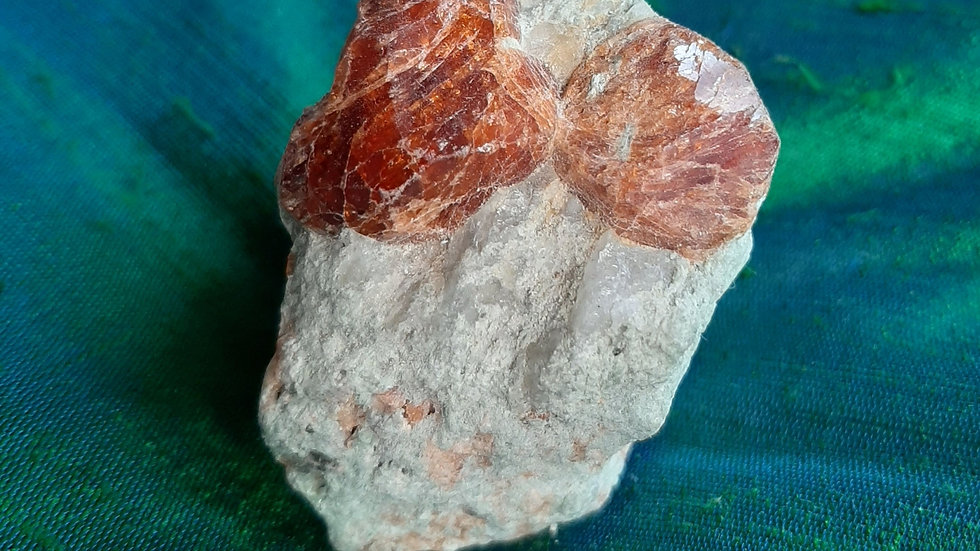 Spessatine garnet in matrix