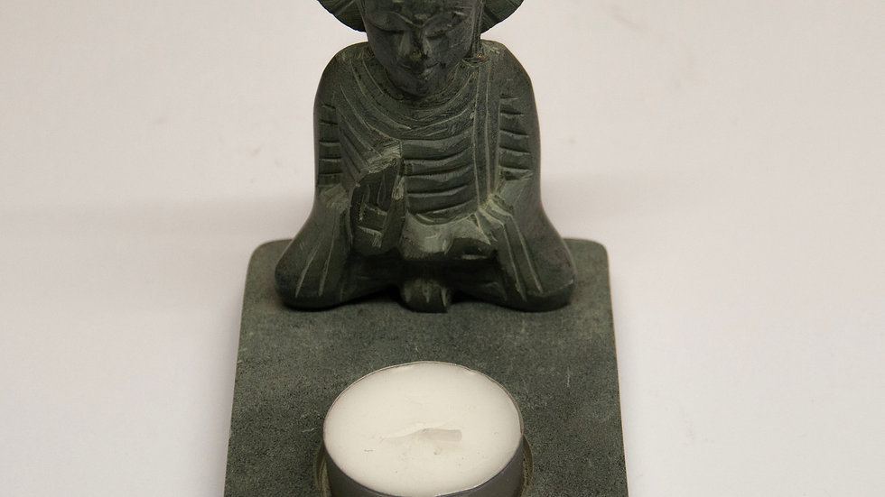 Carved Buddha Tealight Holder