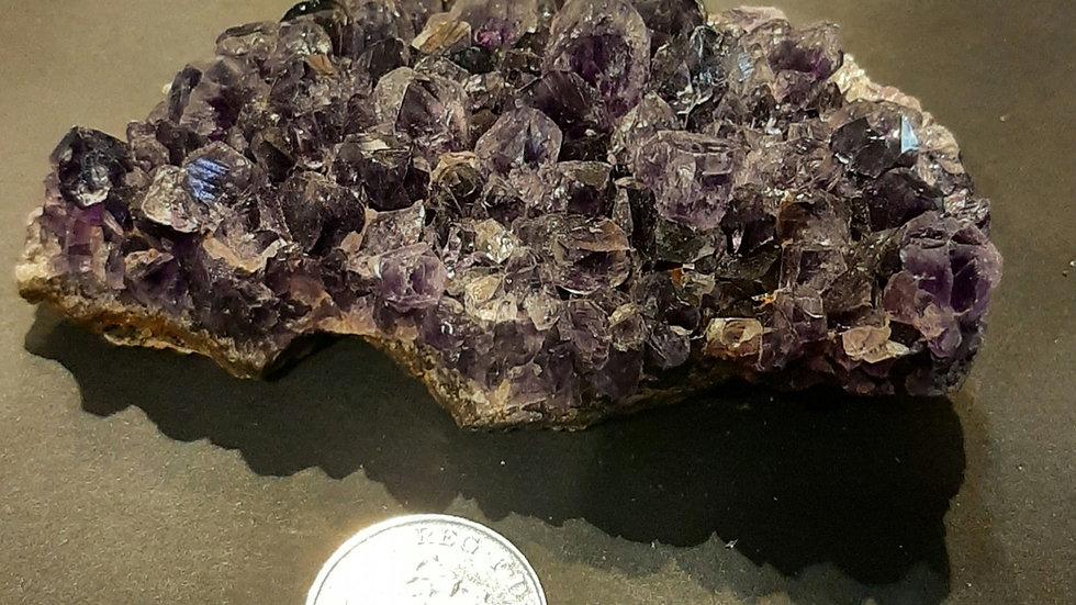 Amethyst cluster 10.5cm x 6.5cm