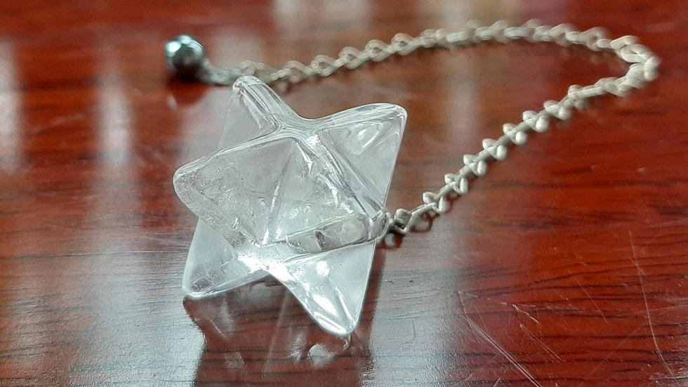 Merkabah Pendulum with hematite bead
