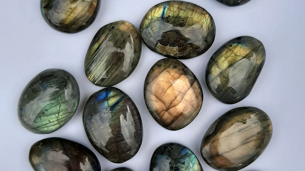 Labradorite smooth stones 3cm to 4cm approx