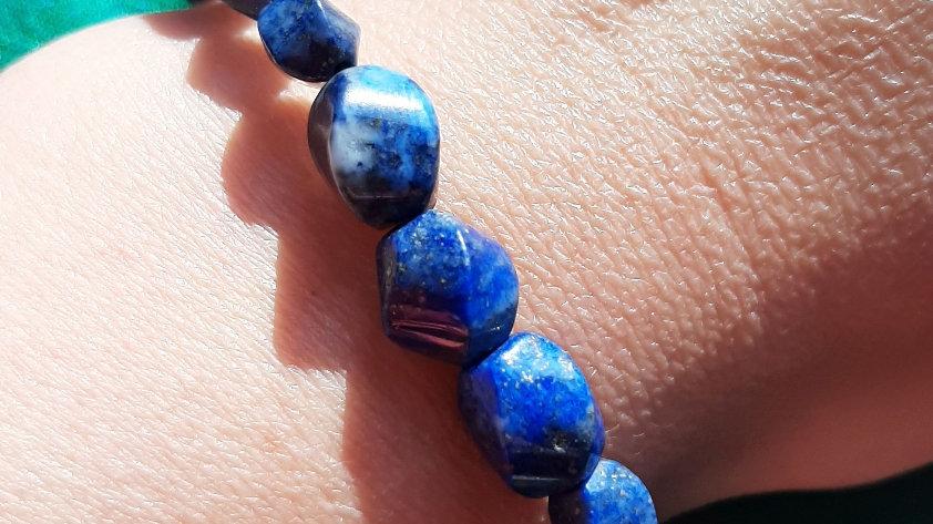 Lapis Lazuli bead stretch bracelet