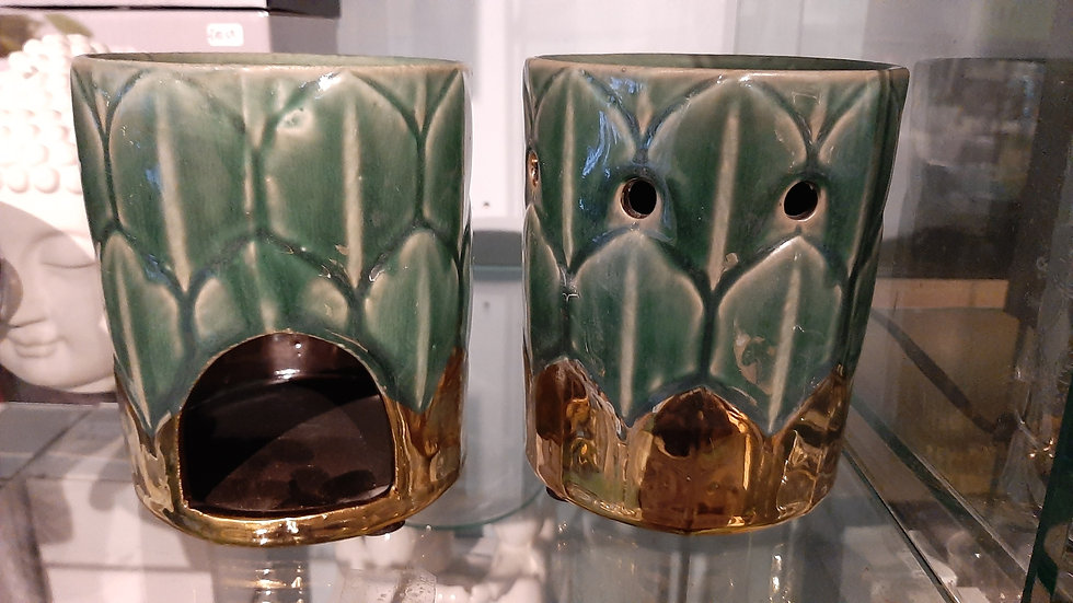 Art deco style oil burner, ceramic