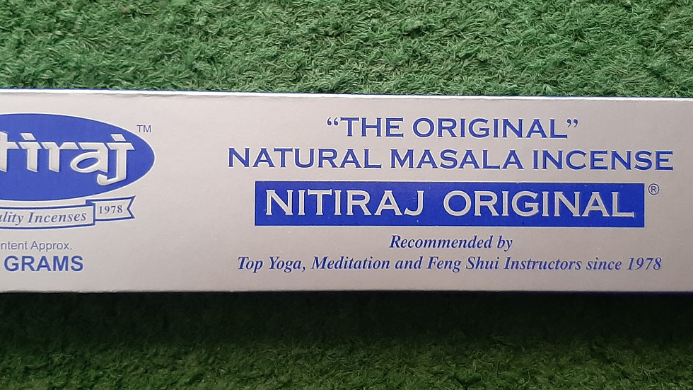 Nitraj original masala long burn incense 18 sticks