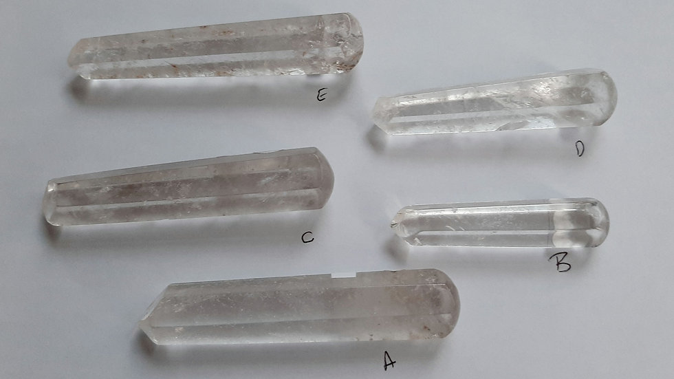 Clear quartz wands, rounded end