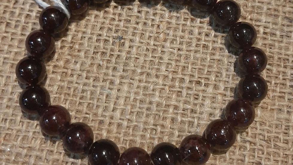 Garnet large bead bracelet