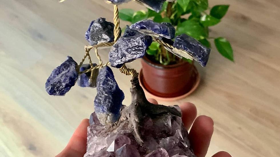 Amethyst & Sodalite crystal tree