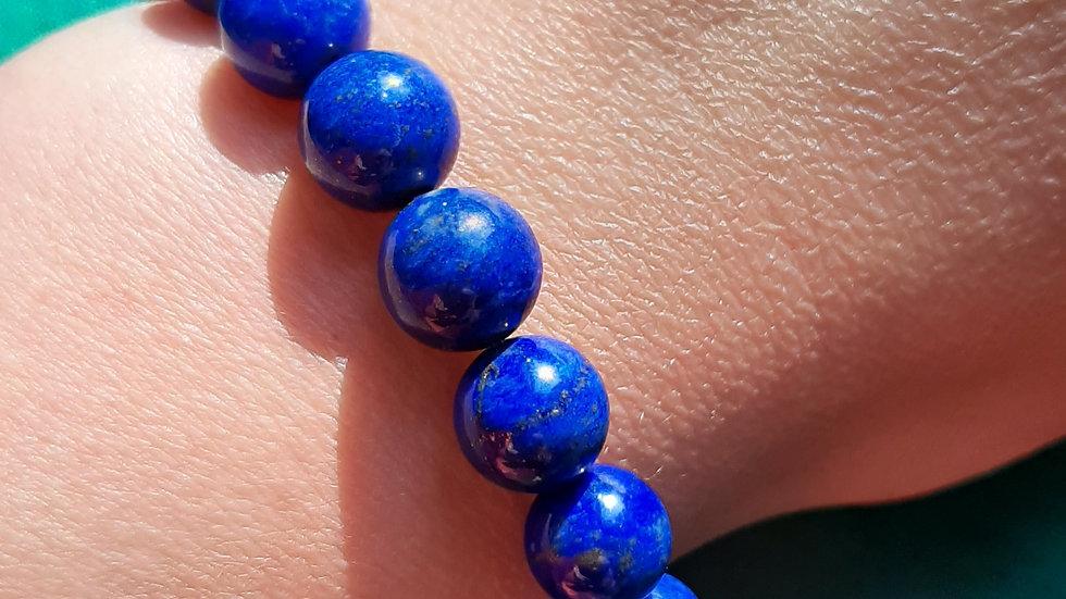 Top grade Lapis Lazuli bead stretch bracelet