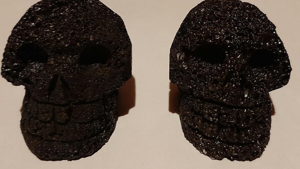 Lava Skulls 5cm x 4cm x 4cm