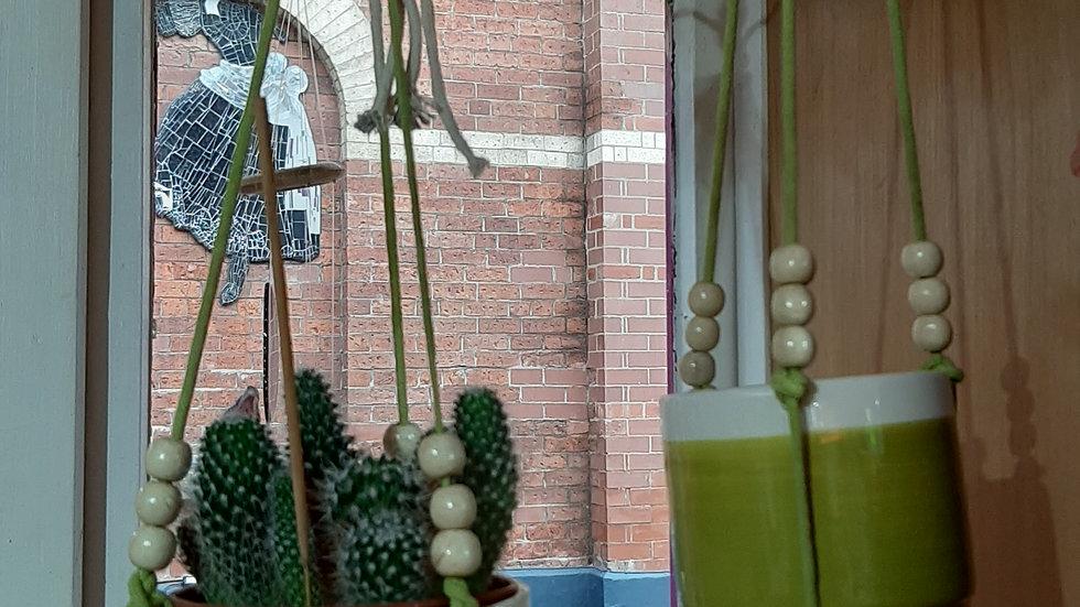 Ceramic double plant hangers