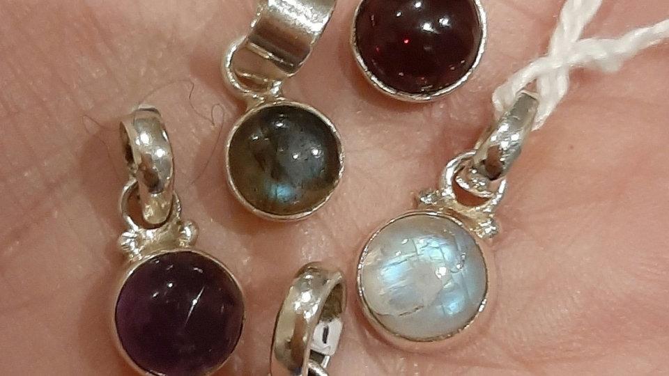 Semi precious gem pendants