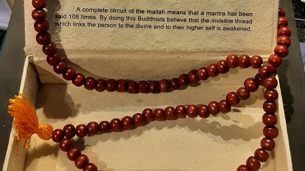 Wooden Mala Beads, 108 beads