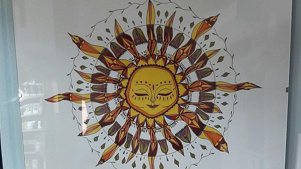 The Sun art print by Maja Novak