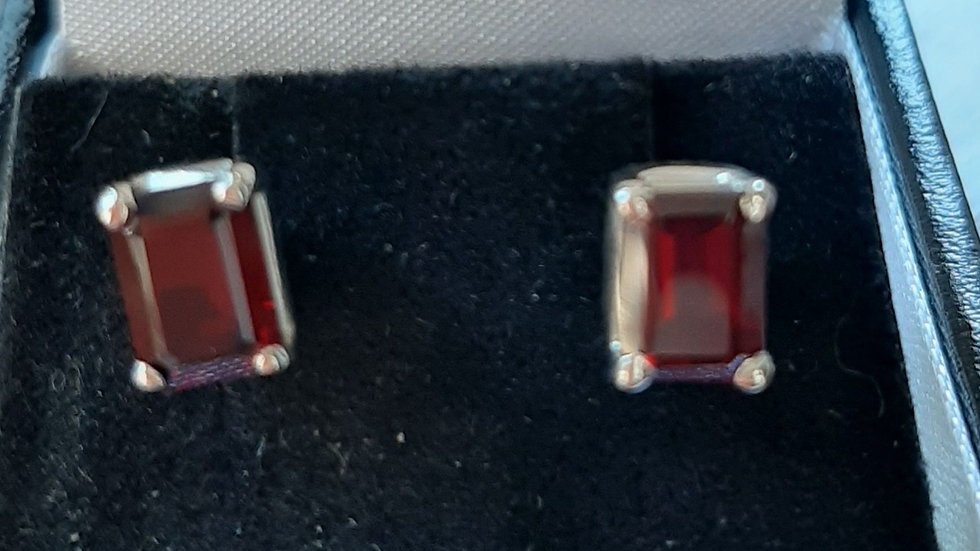 Semi precious gemstone earrings in sterling silver