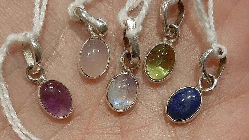 Semi precious stone small pendants