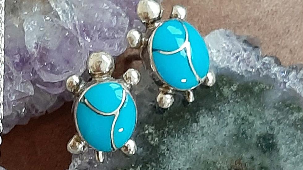 Zuni Indian turquoise stud earrings