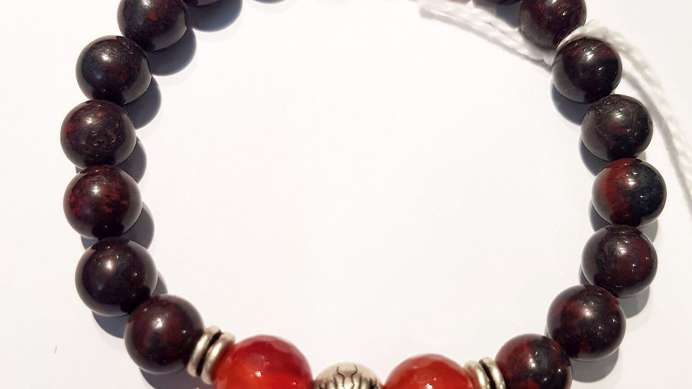 Bloodstone and Red Carnelian Bracelet
