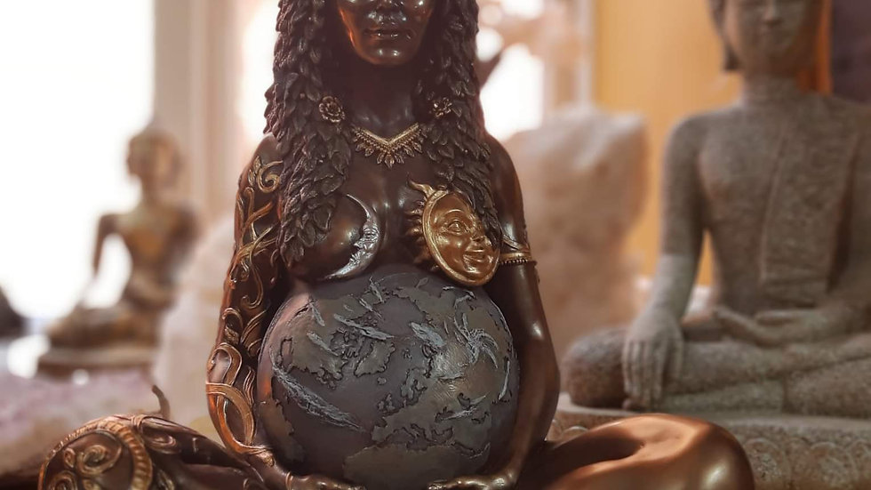 Bronze effect Mother Earth Statue 30cm