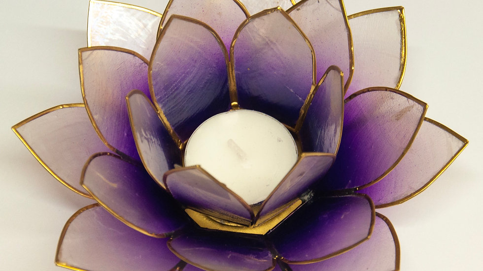 Lotus Capiz Shell Candle Holder
