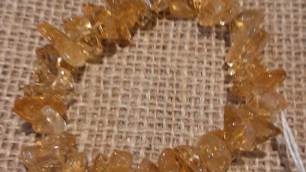 Citrine chip bracelet, chunky