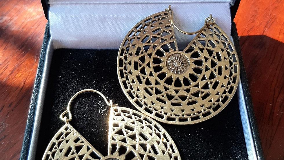 Brass Mandala earrings