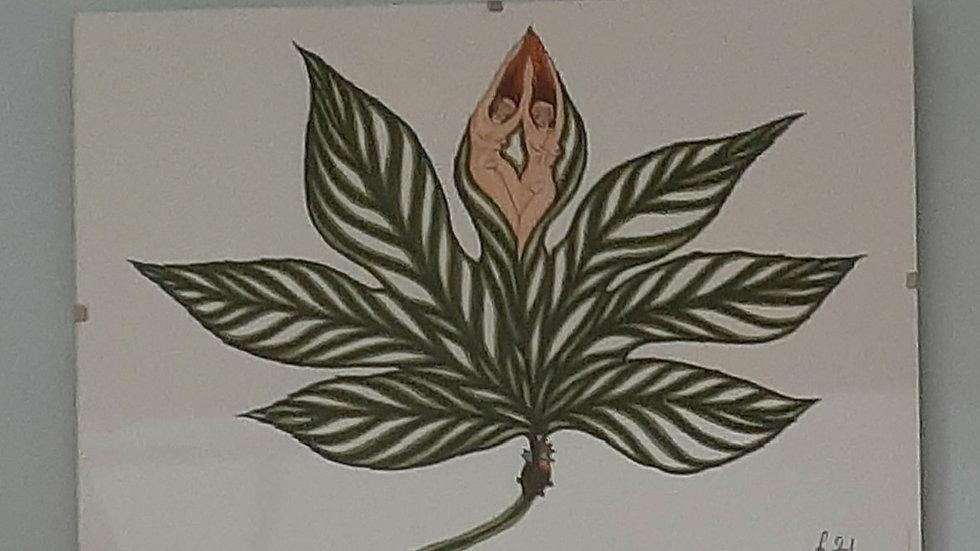 Leaf and twin art print by Maja Novak