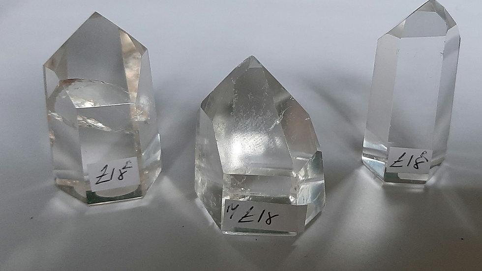 High grade quartz point generators 3.5cm to 5cm