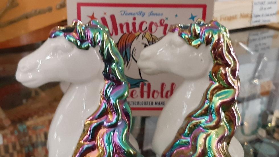 Ceramic unicorn candle holders (pair)