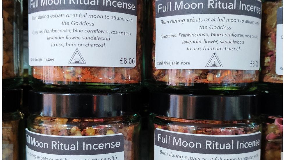 Full  moon ritual incense