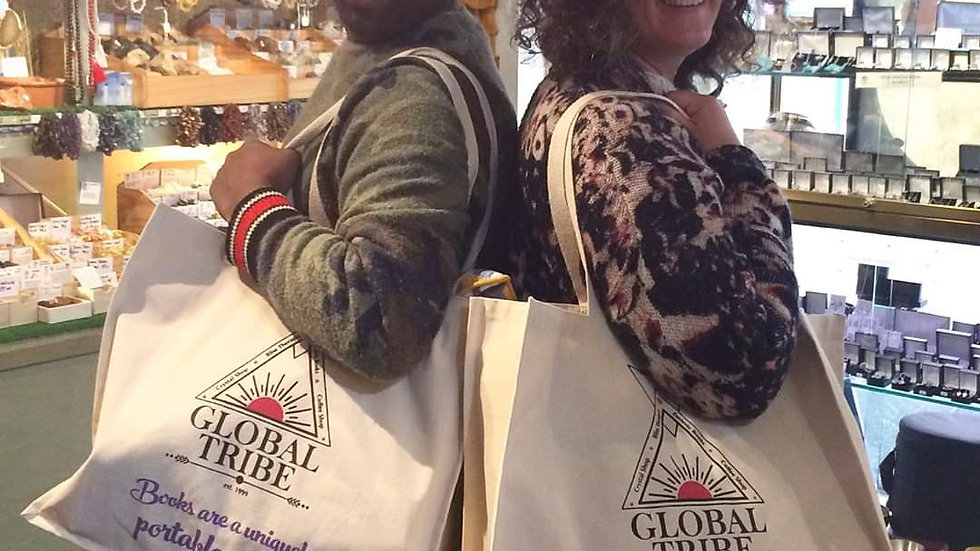 Heavy duty Global Tribe canvas shopping bags