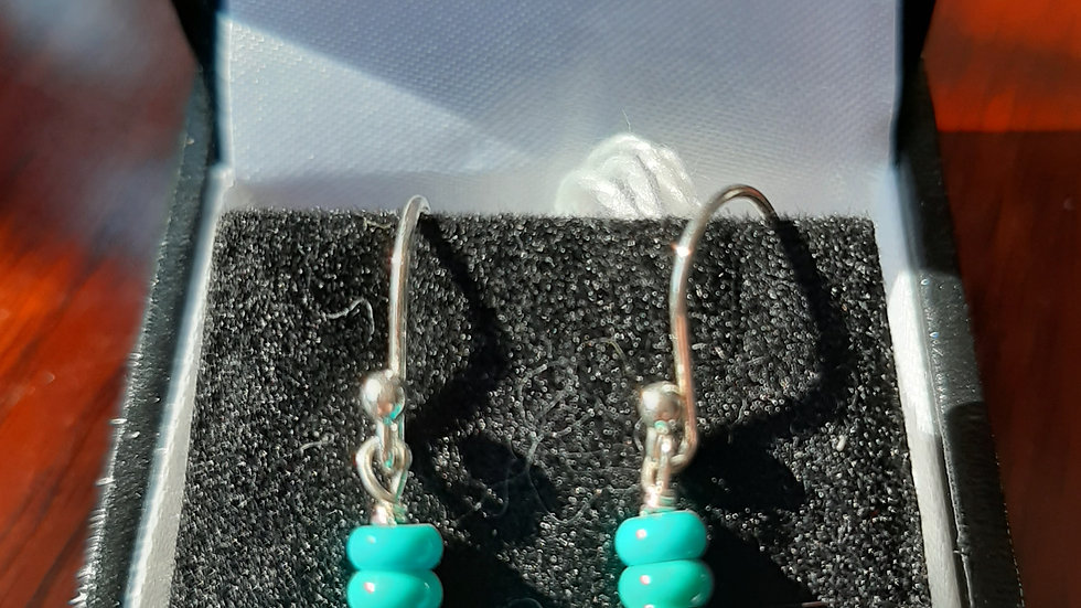 Turquoise (sleeping beauty) sterling silver earrings