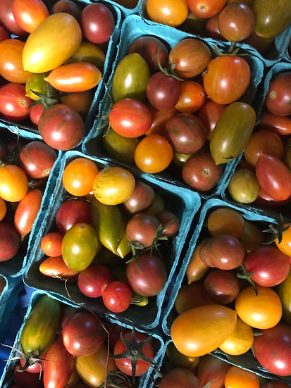 Heirloom cherry tomatoes $5.00 pt