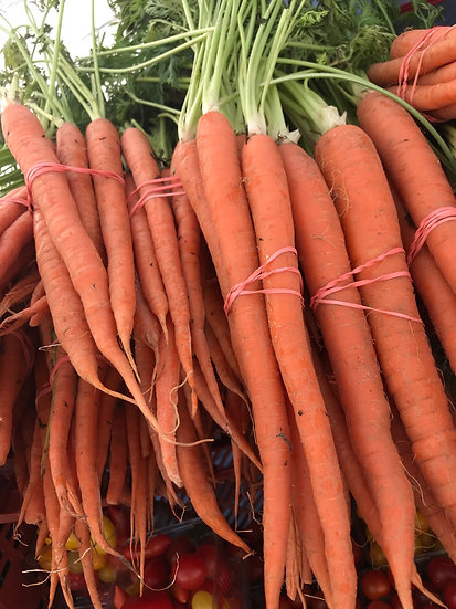 carrots $4.00 bunch